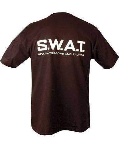 Kombat Mens militaire imprimé camouflage de Sniper SWAT Police de Combat de l'armée américaine FBI British Tee T-shirt Noir - Noir - Medium