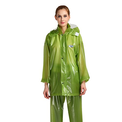 YAANCUN Radfahren Bike Regenmantel Set, Wasserdichte Radfahren Regenmantel Regen Coat Pants für Frauen Männer Outdoor Aktivitäten, Camping, Angeln