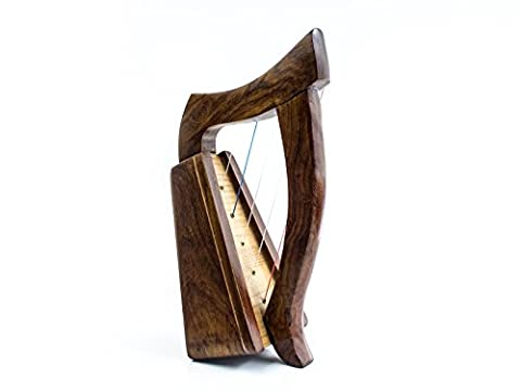 Dannan Handmade 5String keltische Harfe aus Holz mit einem Palisander Finish