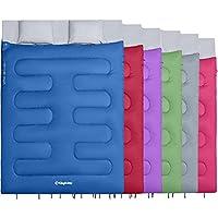 KingCamp Oxygen doble saco de dormir con almohadas 3 Season extra grande Queen saco de dormir