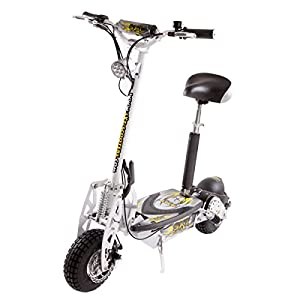 SXT scooters Trottinette lectrique 1000 W Turbo Blanche Batterie Plomb 12 Ah