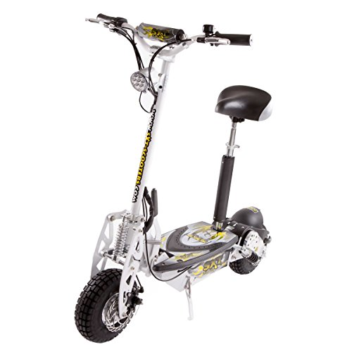 SXT1000 Turbo Bicicleta eléctrica 32 km/h con 1000 Vatios 36V SXT Scooter - Blanco, blanco | 36V 12Ah bateria gel...