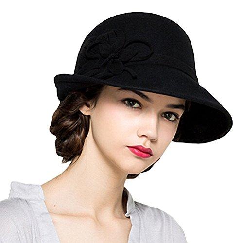 Maitose® Damen Wollfilz Blumen Kirche Bowler Hats - Bowler-hut Halloween-kostüm