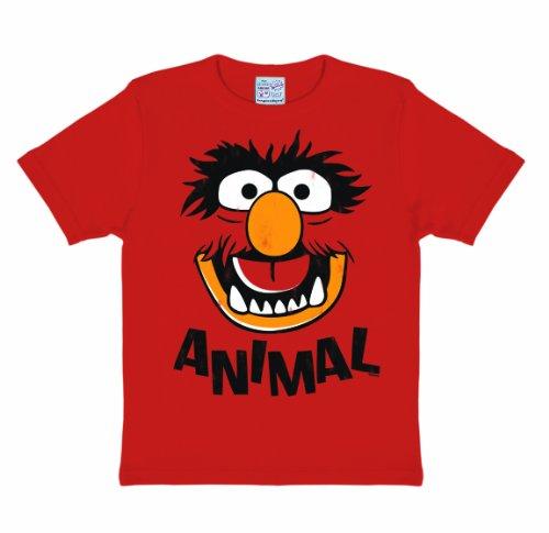 Logoshirt Jungen T-Shirt, Rot, Rot, 7-9 ()