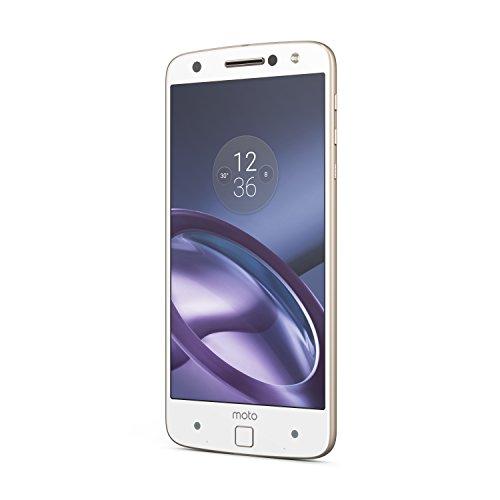 "Moto Z - Smartphone Libre DE 5.5"" (Bluetooth, Qualcomm Snapdragon 820, 4 GB de RAM, 32 GB, Cámara DE 13 MP, Android 6), Blanco"