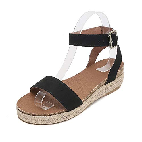 Open Toe Korean Version of The wild Summer New Student Casual Sandals Flat Bottom Thick Word Buckle with Sandals