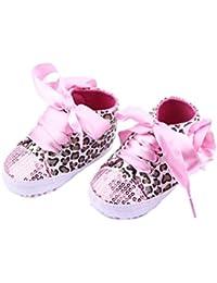 PIXNOR Bambini cravatta Silicone merletto elastico Sneaker scarpa lacci non confezione da 12 (rosa rossa)
