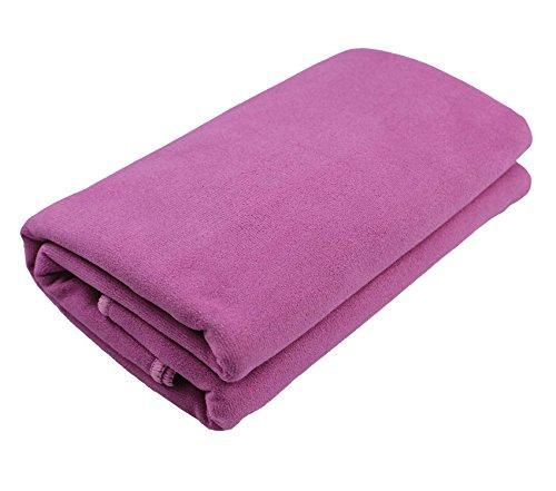 Manta para yoga »Sudore« / La manta para yoga pensada para Hot Yoga / complemento para ejercicios de yoga y para la relajación posterior / 183 x 61 cm, rosa fucsia