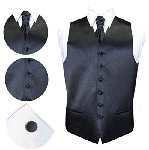 Herren Anzugweste Anzug Slim Fit Business Hochzeit festlich vielfärbig  Schwarz