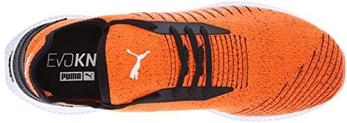 PUMA Men s Avid Evoknit Sneaker  Shocking Orange Black White  11 5 M US
