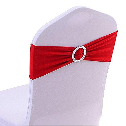 Yontree 10 PCS Noeuds de Chaise Elastique Pas besoin d'être Lié Décor Mariage Fête Baptême
