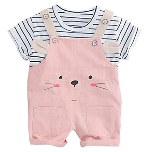 Plzlm Säuglingskleidung Anzüge Streifen-T-Shirt-Bügel-Shorts für Kinder Kinder Urlaub Kostüm Sommer-Baby-Kleidung Sets