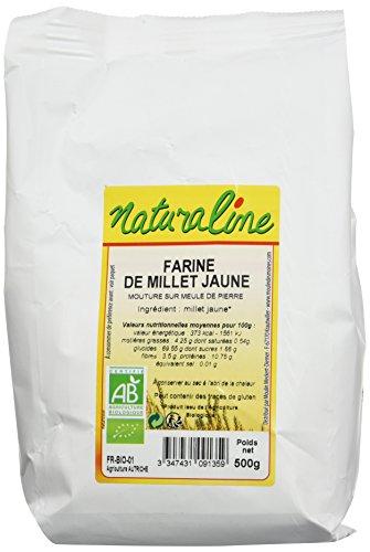 Moulin des Moines Farine de Millet Complète Bio 500 g - Lot de 5