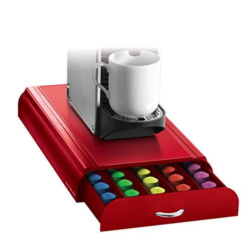 Kaffee Pod Storage (Mind Reader 'Anchor' für 50 Nespresso Kapseln, Red Kaffee Pod Storage Schublade)