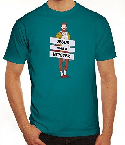 Herren T-Shirt mit Jesus Was A Hipster Motiv von ShirtStreet Diva