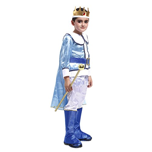 Nihiug Halloween Kinder Performance Kostüm Arab Prinz König Kostüm Wimperntusche Prinz Charming Anzug Göttin Kostüm Mode (Kostüme Home König)