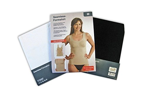 Seamless Damen-Form-Hemd Shirt extra formgebend figurenformend mit speziellen Modellierungszonen Haut