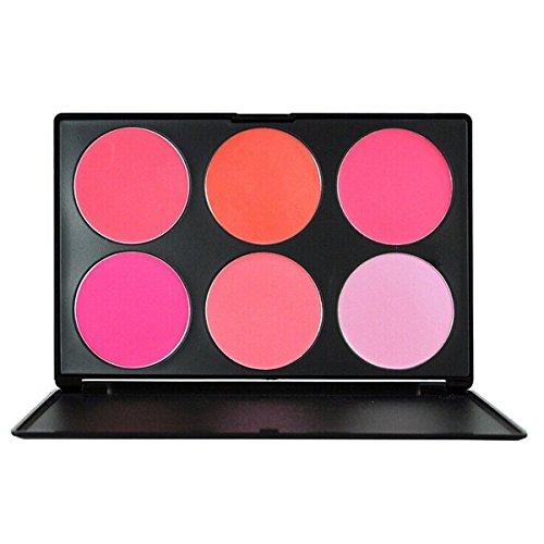 TININNA Palette de Maquillage Beauté Poudre 6 Teintes Kit Cosmétique Crème Contours Couleur et Visage