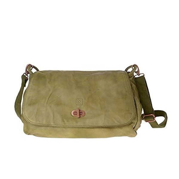 9fafb5086 Ofertas para comprar online Bolso bandolera DuDu (lavado grande de piel  teñida en prenda con solapa Pistachio Green)