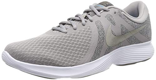 Nike Nike Revolution 4 Eu, Herren Laufschuhe, Grau (Atmosphere Grey/Mtlc Pewter/Thunder Grey/Lt Current Blue/White 020), 43 EU (8.5 UK)
