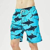Pantalones Cortos de Playa, Pantalones Cortos de Surf Hawaianos Ocasionales, Pantalones Cortos de Verano para Hombres, Good dress, Tiburón, 4XL