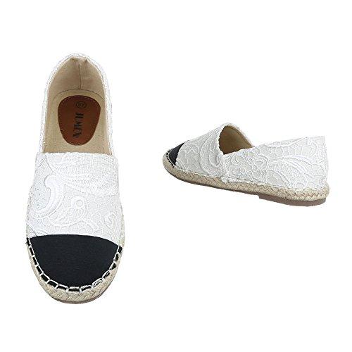 Ital-design Slipper Scarpe Da Donna Low-top Block Tacco Moderno Scarpe Con Tacco Basso Bianco