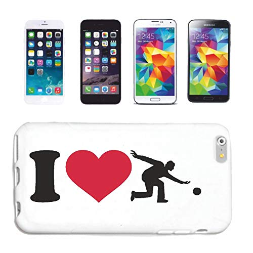 Reifen-Markt Handyhülle iPhone 5 / 5S I Love Bowling - BOWLINGS Kugel - BOWLINGBAHN - Bowling Center - BOWLINGS Verein Hardcase Schutzhülle Handycover Smart Cover für Apple iPhone in Weiß