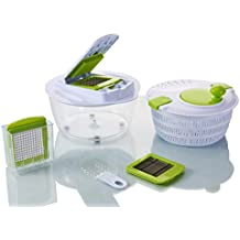 Vegetable's Chef - Salad Spinner - Onion, Vegetable, Fruit and Cheese Chopper - Dice, Slice and Chop for Salads, Soups, Ragout and More - Free Peeler and Recipe eBook mailed to You