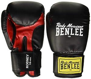 BENLEE Rocky Marciano Boxhandschuhe Training Gloves Rodney, Schwarz/Rot, 12,...