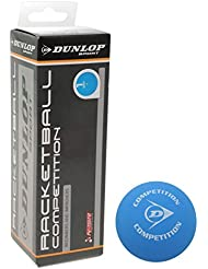 3x Dunlop Unisexe Racquetball Balle de squash Loisir pratique en caoutchouc