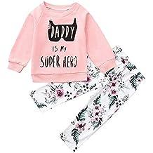 Ropa Bebe otoño Invierno 2018, ❤ Amlaiworld Camisas Camiseta de Tops de Letras Sudadera