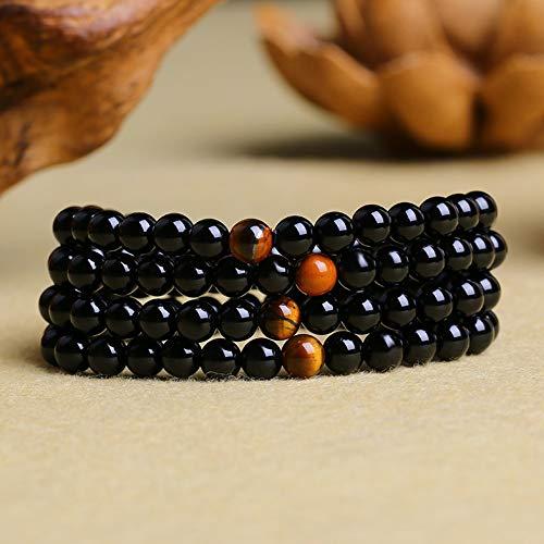 BANGLEW Armband Frauen Männer Multi-Ring Armband Naturstein, Kristall Armbänder Perlen Armband Männer Frauen Armreifen Perlen Armbänder Handgemachten Schmuck