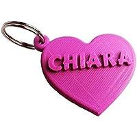 Portachiavi a cuore con nome personalizzato. Idea regalo per San Valentino, Anniversario, Fidanzato, Fidanzata