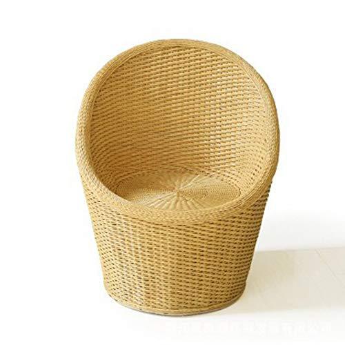 seeksungm Chair, Home Natural rotin Hand-Woven Armchair, Eco-Friendly Breathable Leisure Chair, size 84 cm long, 68 cm long, 58 cm Wide