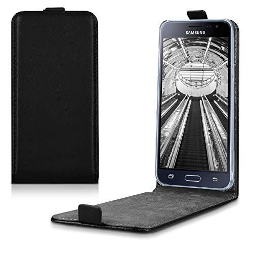 kwmobile Samsung Galaxy J3 (2016) DUOS Hülle - Handyhülle für Samsung Galaxy J3 (2016) DUOS - Handy Case Flip Schutzhülle