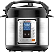 Nutricook Smart Pot by Nutribullet 1000 Watts - 9 in 1 Instant Programmable Electric Pressure Cooker, 6 Liters