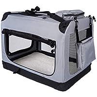Rapid Teck® Perros Caja Plegable Caja de Transporte Perros Auto Caja de Transporte Viaje Box Gatos Auto Caja con Perros Techo