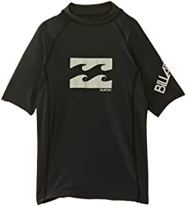 Billabong Boy's Wrap Short Sleeve Rash Vest - Black, Size 12