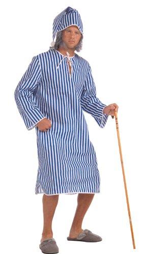 Forum Novelties Inc.-Costume Bah Humbug, Scrooge-Camicia da notte da uomo blu Standard