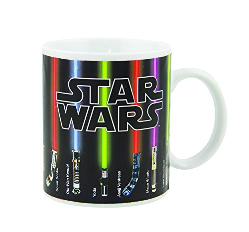 Taza Star Wars Sables láser que cambian de color