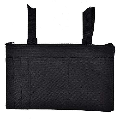 Armlehnen-Tasche, Rollstuhl-Organisator-Armlehnen-Speicher-Zusätze für elektrische, manuelle oder angetriebene Stühle(Schwarz)