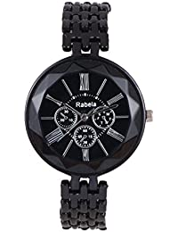 Rabela Women's Analogue Black Dial Watch RAB-237