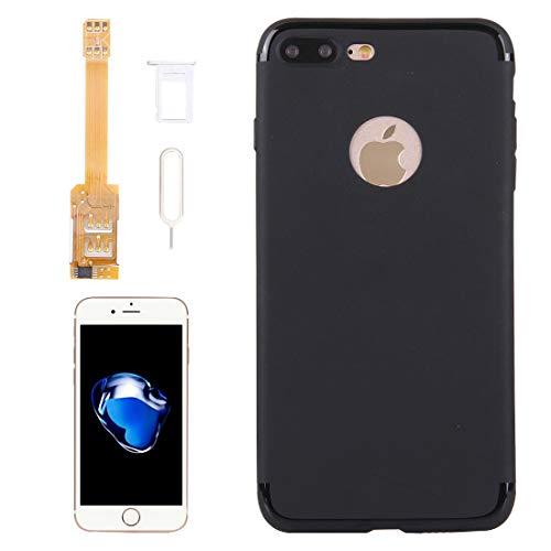 XHC Kumishi 2 in 1 Dual-SIM-Karten-Adapter + TPU-Case mit SIM-Kartenfach/SIM-Karte Pin für iPhone 7 Plus, Dual-Karte Single Standby (für iPhone 7 Plus) Dual-sim-iphone