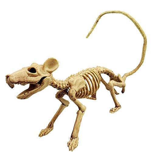 Ouken Halloween Ratte Skelett Kunststoff-Tier-Skelett-Knochen Simulative Skeleton Dekoration für Horror Halloween Dekoration -
