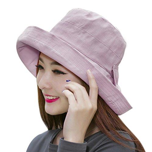 Frauen Mädchen im Sommer Frühling Sonnenhut Sommerhut Stranadhut Fischerhut aus Baumwolle Eimer Hut breite Krempe Sport faltbar Sonnenschutz Kappe