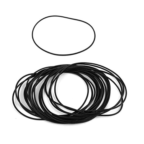 Sellify 20 Pcs 75mm x 1.5mm Rubber O-rings NBR Heat Resistant Sealing Ring Grommets