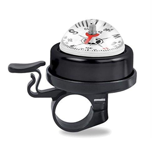 RUIX Fahrrad-Klingel Kompass Glocke Fahrradzubehör,Black