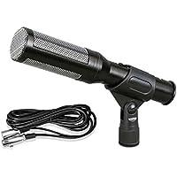 Pyle PDMIC35 - Microfono a condensatore ad electret, con cavo XLR (1/4'' - 6,35 mm, lungo 4,9 m) + rivestimento in espanso
