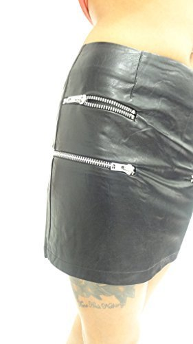 Salt Pepper-Stivaletti da donna in pelle sintetica PU, colore: argento, con dettaglio composto Casual Night Out Party Mini 8 10 12 Nero  nero