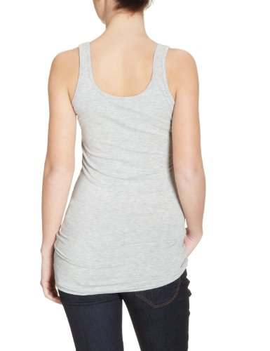 Only Damen Tank Top Top Onllive Love Long Tank Top Noos-15060061 Grau (Light Grey Melange)